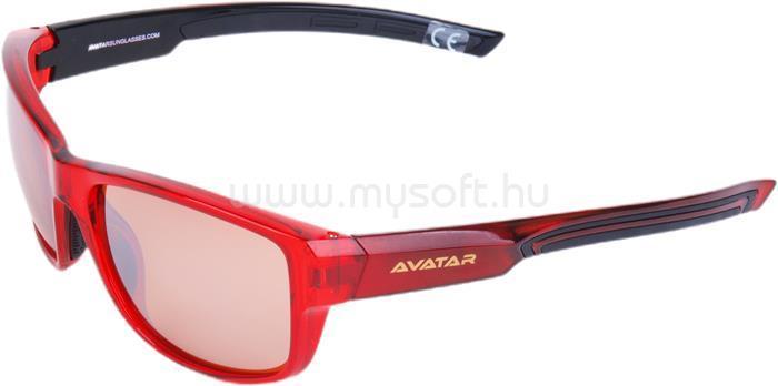 AVATAR Red Knight Napszemüveg HD lencsével (piros)