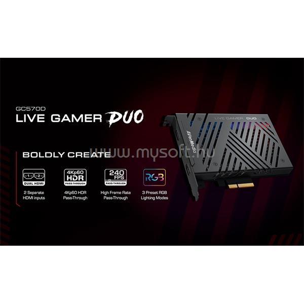 AVERMEDIA GC570D Live Gamer DUO interface capture kártya