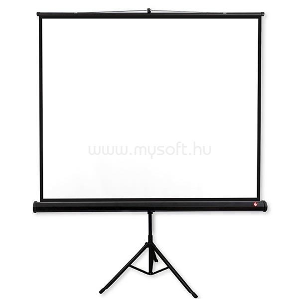 AVTEK Tripod PRO 200 1:1 195x195cm matt fehér hordozható állványos vetítővászon fekete kerettel