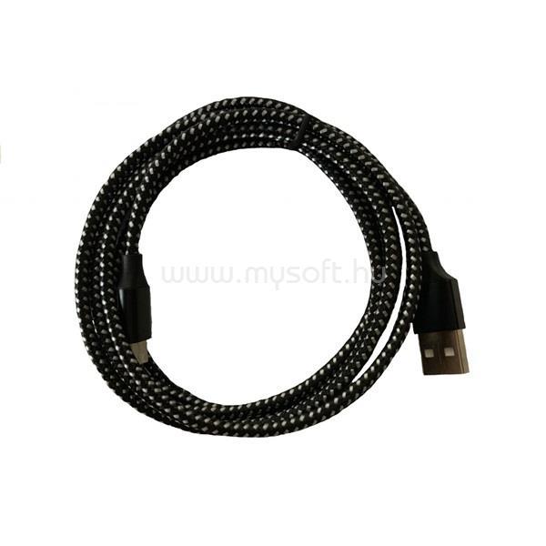 BLACKBIRD Lightning Adatkábel 3m, Fekete 2A (Extra erős anyagból)