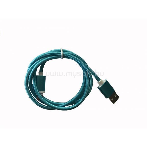 BLACKBIRD Type-C USB Adatkábel 2m, Kék 2A (Extra erős anyagból)