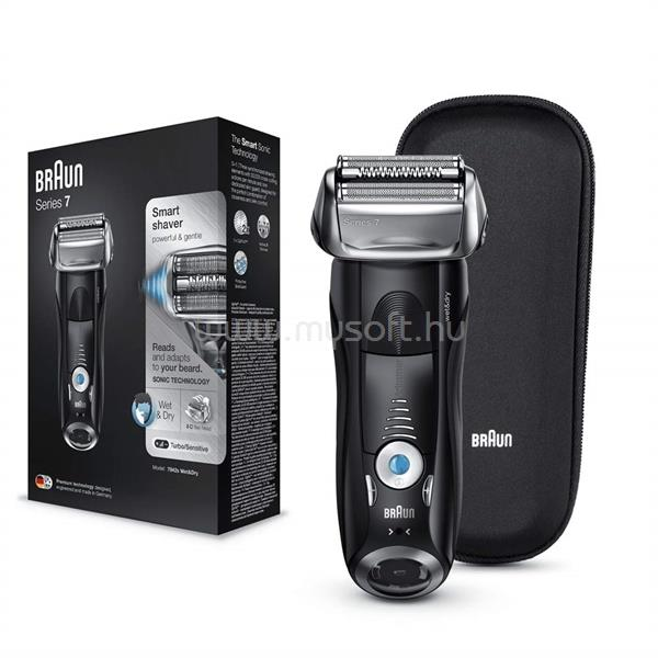 BRAUN Series 7 - 7842s Electric Shaver (Black), Wet & Dry with travel case