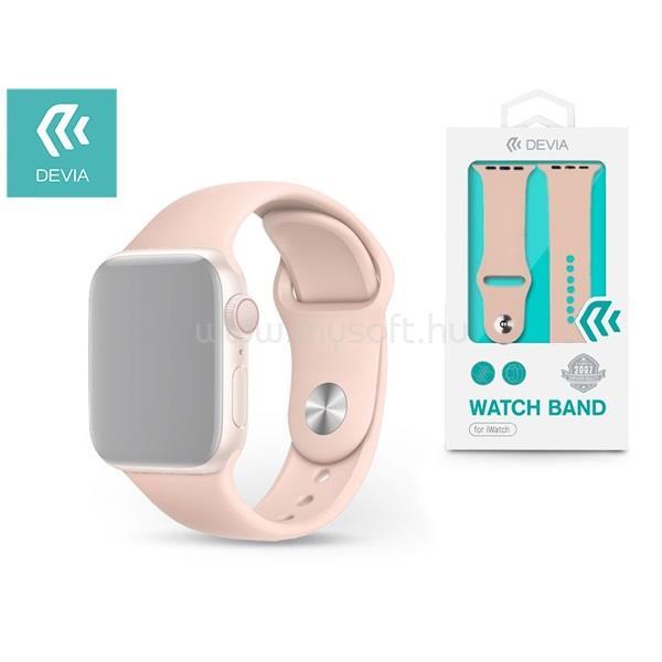DEVIA ST324932 Apple Watch pink sport óraszíj
