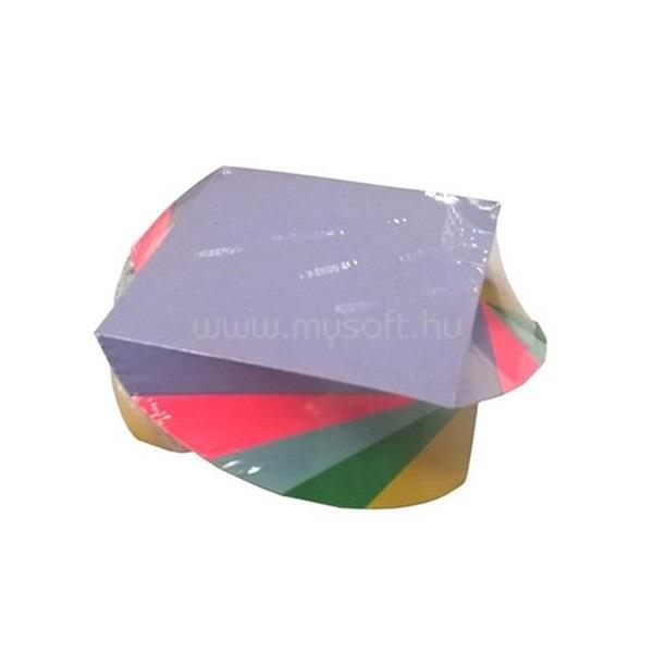 EGYEB BELFOLDI 9x9x600 csavart színes papírtömb