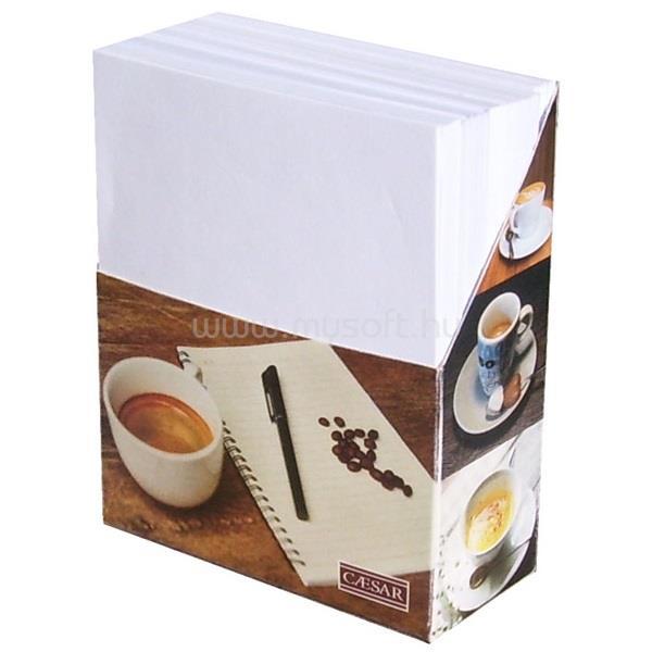 EGYEB BELFOLDI Álló mintás fehér lapokkal jegyzetblokk tartó doboz
