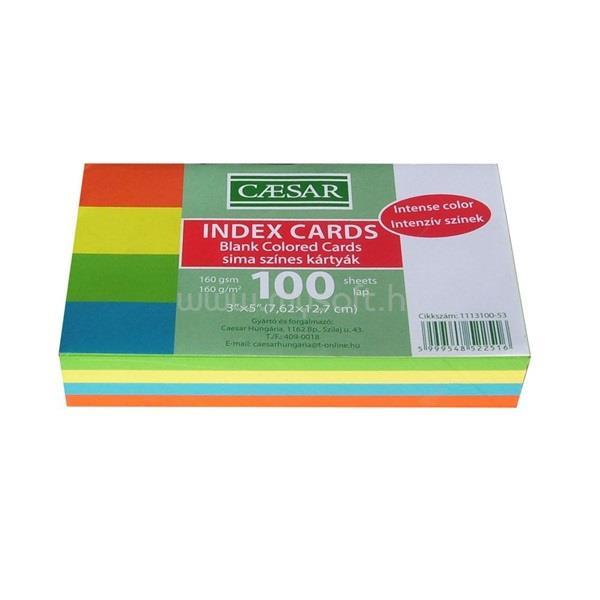 EGYEB BELFOLDI Sima 100db/cs intenzív színes indexkártya