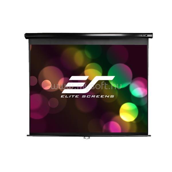"""ELITESCREEN EliteScreens 84"""" (16:9) manuális fali vászon M84UWH (185 x 104 cm, Fekete váz)"""