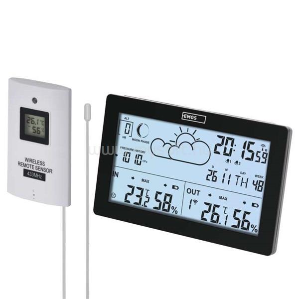 EMOS E5010 vezeték nélküli időjárás állomás