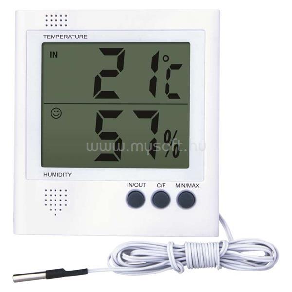 EMOS E8471 szondával és páratartalom mérővel vezetékes digitális hőmérő