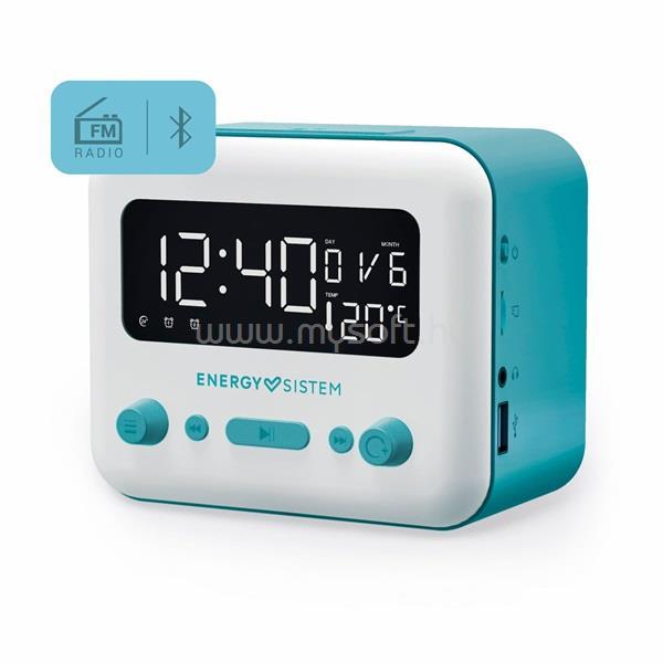 ENERGY SISTEM EN 450725 Clock Speaker 2 Bluetooth kék - fehér ébresztőórás hangszóró