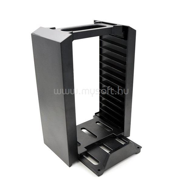 FROGGIEX Charge & Disc Tower PS4 dual töltőállomás + lemez tartó állvány