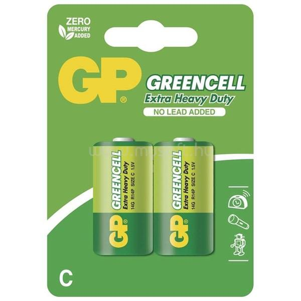 GP BATTERIES GP Greencell baby (C) elem 14G 2db/bliszter