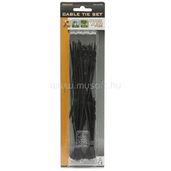 HANDY-TOOLS Vezeték kötegelő - 05430BK (fekete, 75db-os szett)