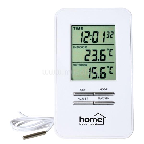 HOME HC 12 vezetékes fehér időjárás állomás