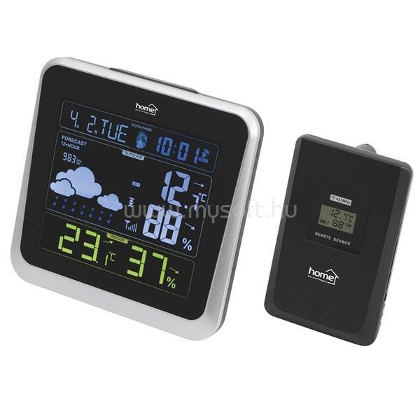 HOME HCW 28 külső jeladóval színes időjárás állomás