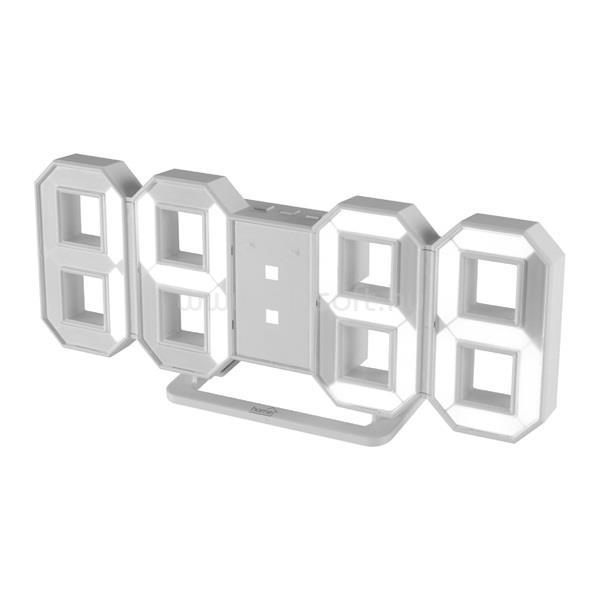 HOME LTC 04 digitális 3D fehét ébresztő óra