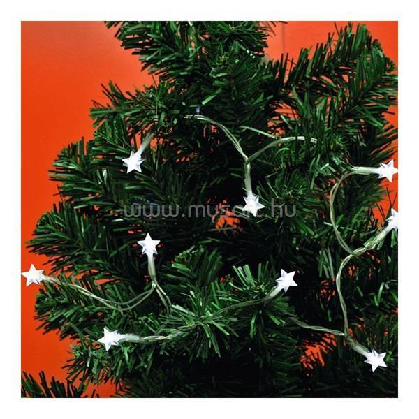 HOME MLC 10/CS 0,9m/10 LED/beltéri/8 program/2xAA/hideg fehér karácsonyi fényfüzér