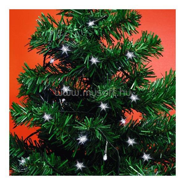 HOME MLC 58/WH 4,9m/50 LED/kül-beltéri/8 program/időzítős/3xAA/hideg fehér karácsonyi fényfüzér