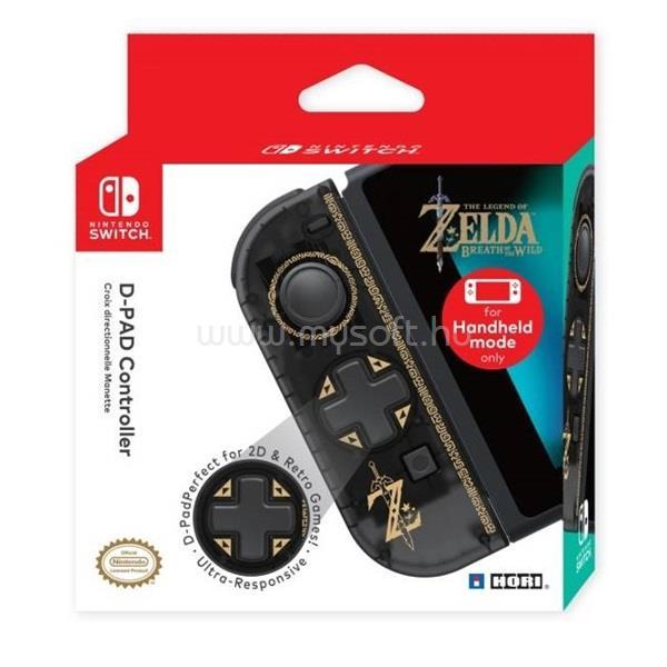 HORI Nintendo Switch D-Pad Joy-Con The Legend of Zelda mintás fekete vezeték nélküli kontroller