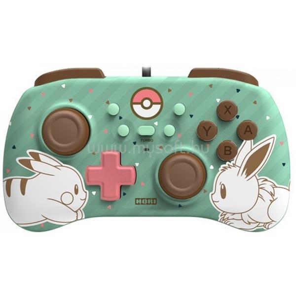 HORI Nintendo Switch HORIPAD Mini Pikachu & Eevee mintás vezetékes kontroller