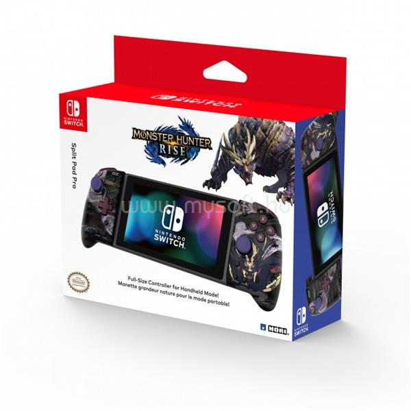 HORI Nintendo Switch Split Pad Pro Monster Hunter Rise mintás vezeték nélküli kontroller