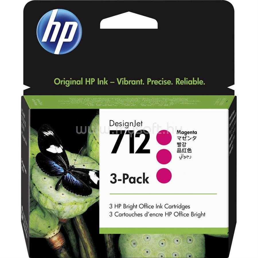 HP DesignJet 712 3 darabos festékpatron 3x29ml (bíbor)