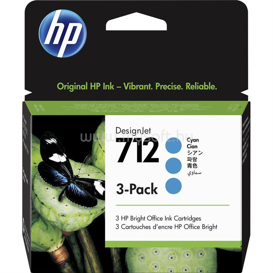 HP DesignJet 712 3 darabos festékpatron 3x29ml (cián)