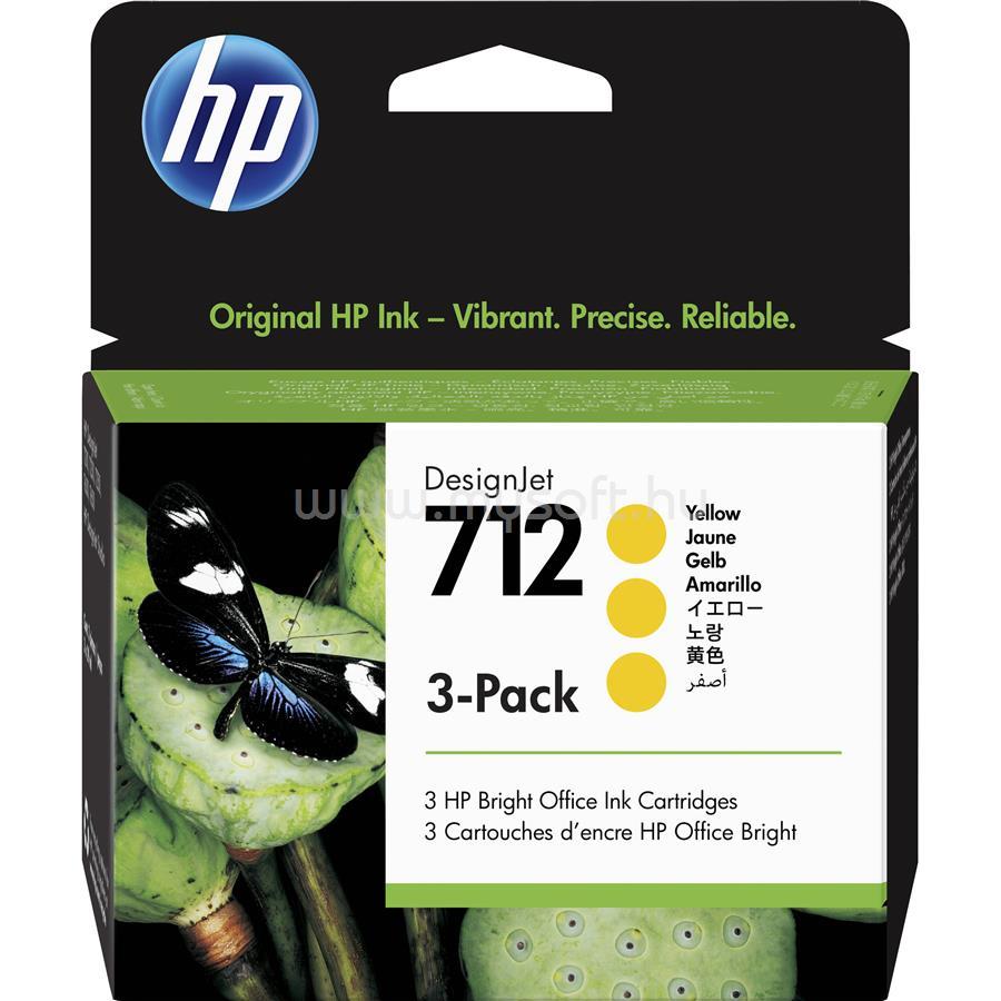 HP DesignJet 712 3 darabos festékpatron 3x29ml (sárga)