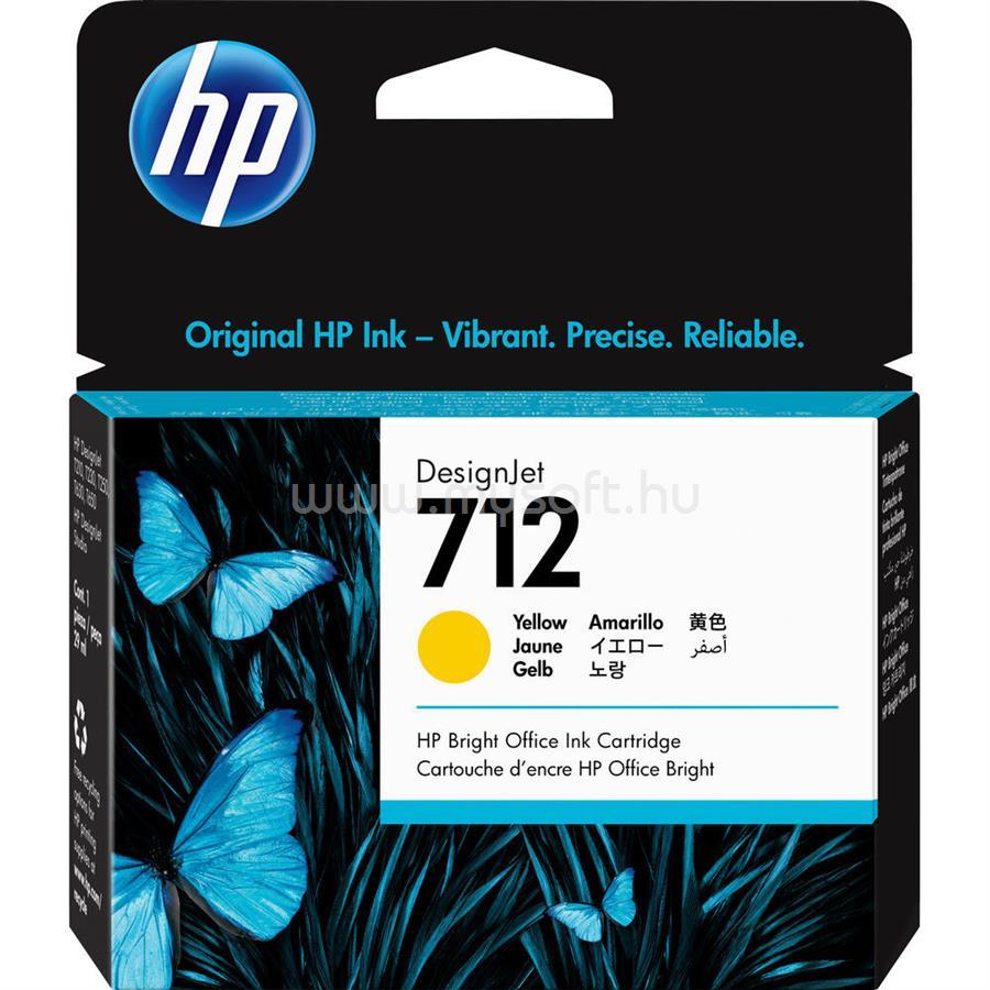 HP DesignJet 712 Festékpatron 29ml (sárga)