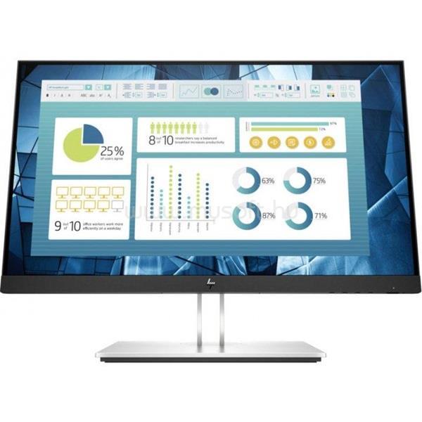 "HP EliteDisplay E22 G4 22"" FHD AG IPS 1920x1080, 16:9, 1000:1, 250cd, 5ms, VGA, HDMI, DisplayPort, fekete"