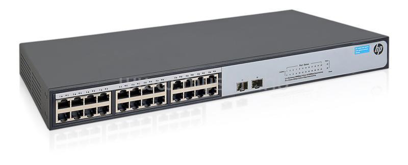 HP 1420 24port GbE LAN 2xSFP+ nem medzselhető Switch