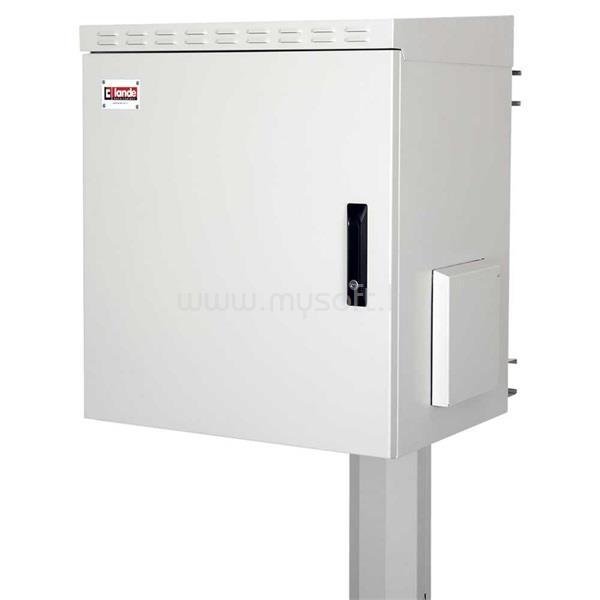 """LANDE LN-SBO-IP5512U6045-LG SAFEbox 19"""" 12U 600x450 kültéri szürke fali rack szekrény"""
