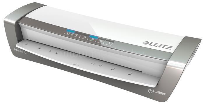 """LEITZ Laminálógép, A3, 80-175 mikron, """"iLam Office Pro"""", ezüst"""