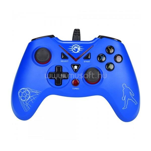 MARVO Gamepad - GT-018 (USB, 1,8m kábel, Vibration, PC / PS3 kompatibilis, kék)