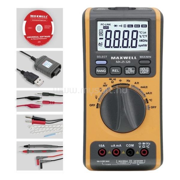 MAXWELL 25328 digitális multiméter 5az1-ben.USB-s PC kapcsolattal
