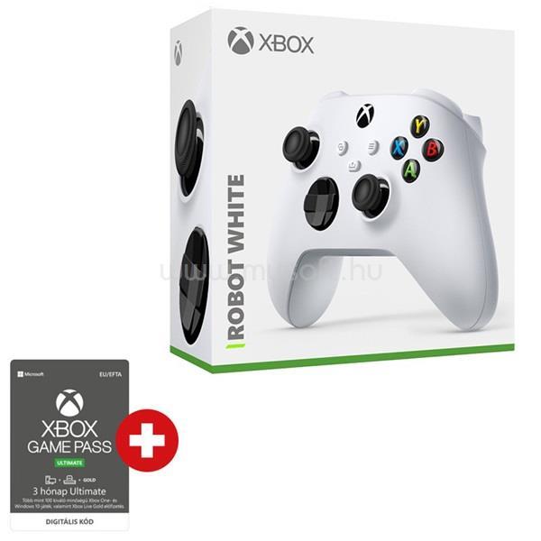 MICROSOFT Xbox Series X/S fehér vezeték nélküli kontroller + Xbox Game Pass Ultimate 3 hónapos előfizetés