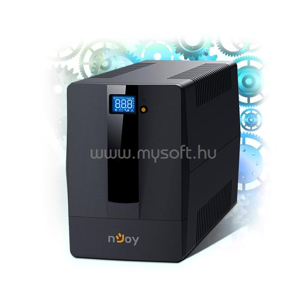 NJOY Szünetmentes + AVR Horus Plus 2000, 2000VA, 1200W, Line-Interactice, LCD Touch display