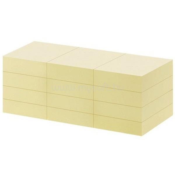 OFFICE DEPOT 38x50mm öntapadós 12db sárga jegyzettömb