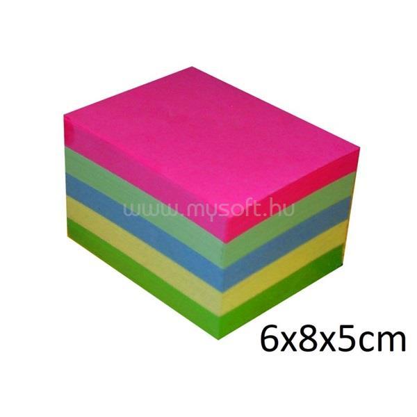 OFFICE DEPOT 6x8x5cm több színű tépőtömb