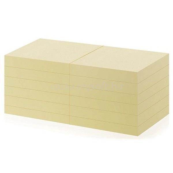 OFFICE DEPOT 76x76mm újrahasznosított sárga jegyzettömb