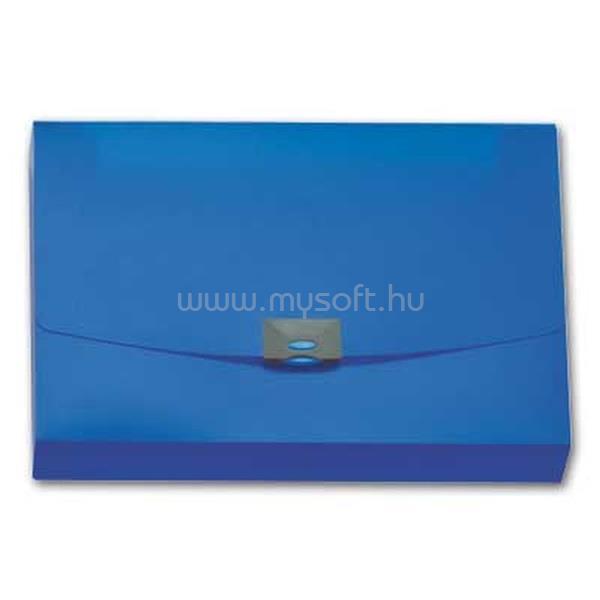 OFFICE DEPOT kapcsos áttetsző kék irattáska