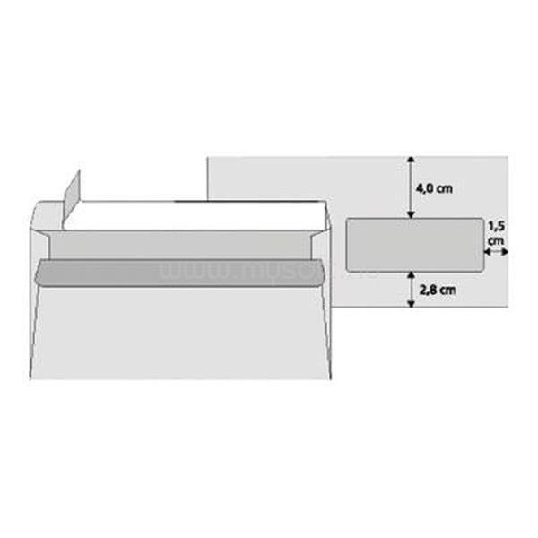 OFFICE DEPOT LA4 szilikonos jobb ablakos 25db boríték