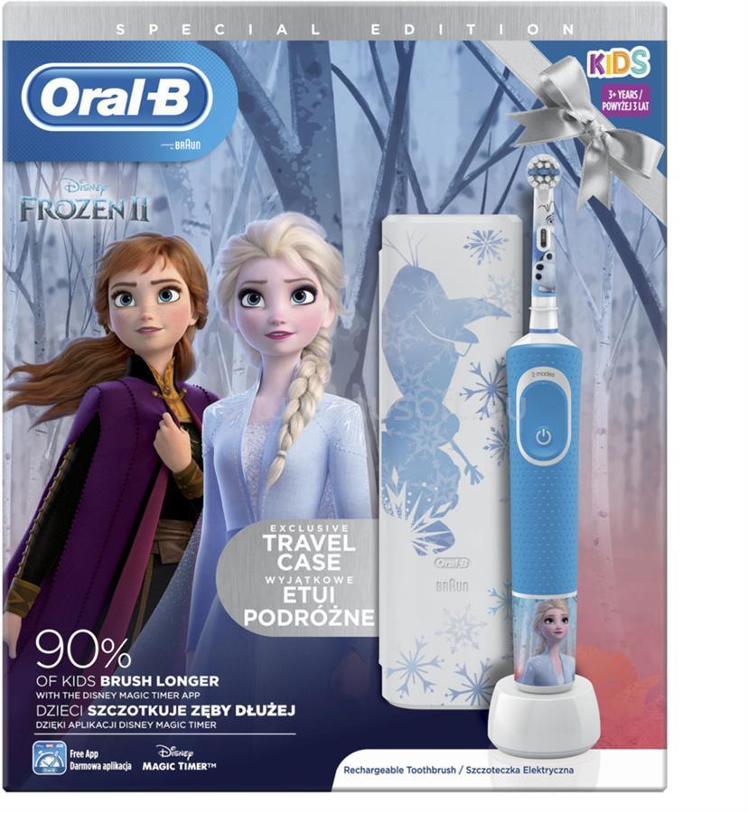 ORAL-B Oral-B D100 Vitality Frozen II gyerek elektromos fogkefe + útitok