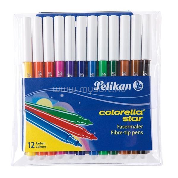 PELIKAN Colorella 12db-os vegyes színű rostirón készlet