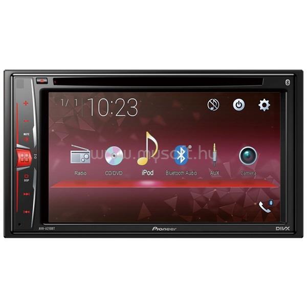 "PIONEER AVH-A210BT 6.2"" LCD-s Bluetooth/DVD/USB/AUX autóhifi fejegység"