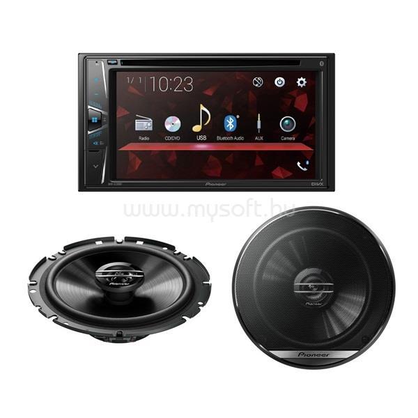 "PIONEER AVH-G220BT 6,2"" LCD CD/DVD/USB autóhifi fejegység + TS-G1720F 17cm 2 utas hangszóró pár"