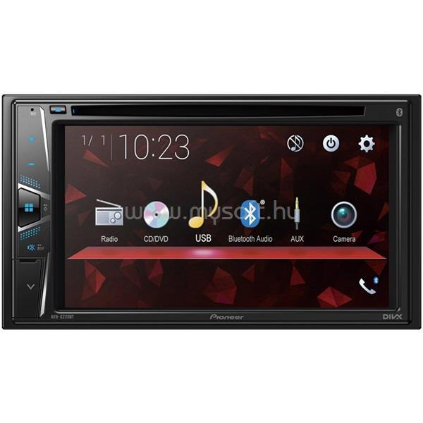 PIONEER AVH-G220BT multimédiás CD/DVD autóhifi fejegység