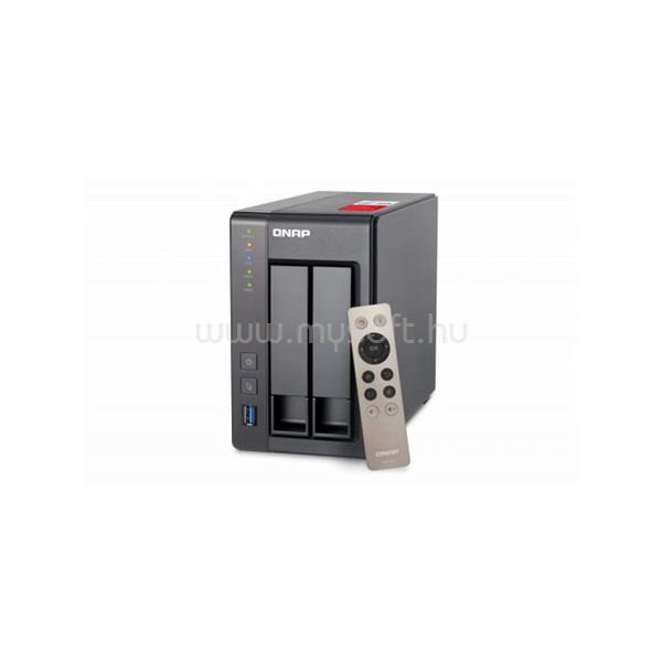 QNAP NAS 2 fiókos TS-251+-8G Celeron 4x2.0 GHz, 8GB RAM, 2x100/1000, 2xUSB3.2, 2xUSB2.0