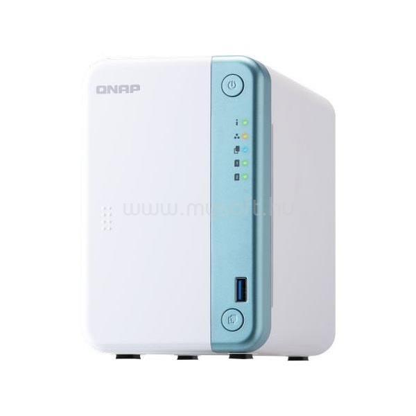 QNAP NAS 2 fiókos TS-251D-2G Celeron 2x2.0 GHz, 2GB RAM, 1x100/1000, 2xUSB3.2, 3xUSB2.0