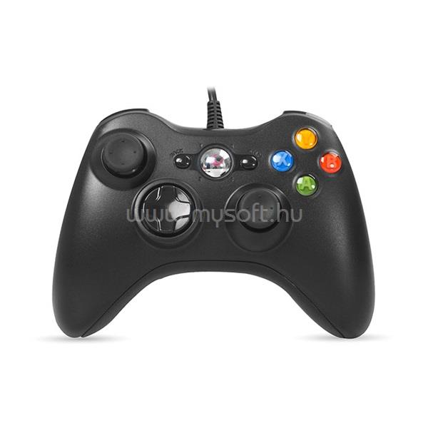 RAMPAGE Gamepad - SG-R360 Black (USB, 2,2m kábel, PC és Xbox360 kompatibilis, fekete)